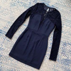 Aritzia Blue Lace Mini Dress